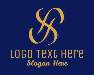 Fashion Accessories - Gold Letter S Pattern  logo design