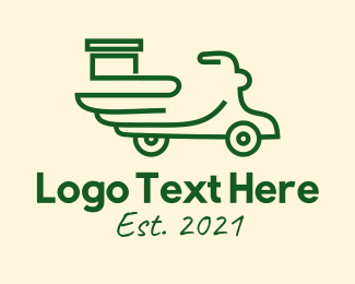 Motor - Green Delivery Scooter  logo design