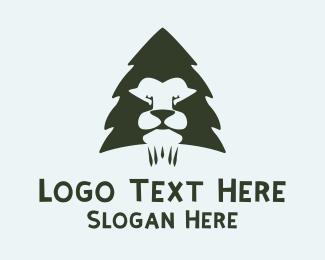 Pine - Pine Lion logo design