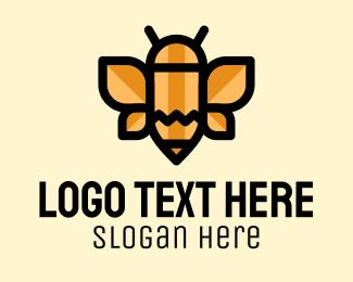 Animation - Pencil Bee Preschool logo design