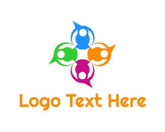 Dialogue - Colorful Speech Bubbles logo design