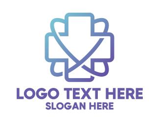 Medical Center - Medical Science Health Cross logo design