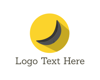Grocery - Black Yellow Banana logo design