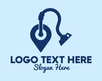 Hose - Vacuum Cleaner Location logo design