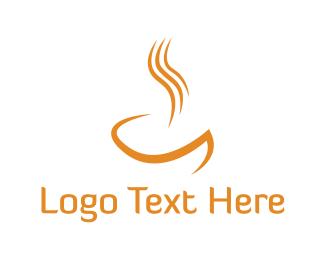 Soup - Orange Hot Drink logo design