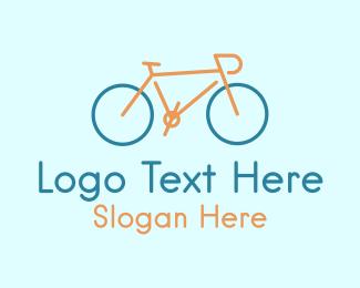 Racing - Minimal Cyclist Bike  logo design
