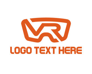 Augmented Reality - Red VR Goggles logo design