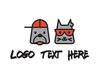 Puppy - Cat & Dog logo design