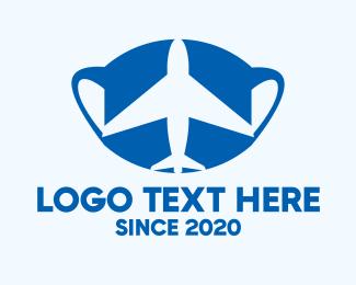 Surgical Mask - Travel Airplane Face Mask logo design