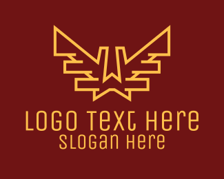 Security - Gold Wings Letter W logo design