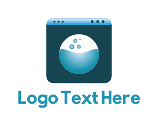 Detergent - Blue Washing Machine logo design