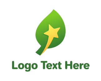 Life - Yellow Star Leaf logo design