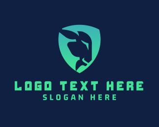 Farm Animal - Goat Shield logo design