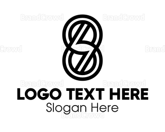 Double - Black Double Six logo design