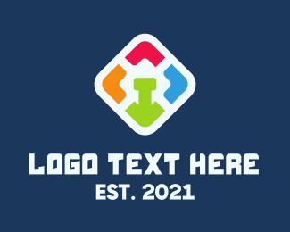 Mobile App - Colored Mobile App logo design