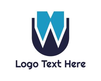 Fang - Bow Tie W logo design