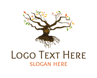 Human Tree - Head Tree logo design