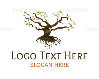 Human Tree - Head Tree logo design