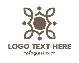 Beauty Product - Baroque Floral Stroke logo design
