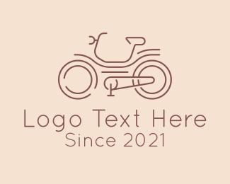Bike Race - Bicycle Racer Line Art logo design
