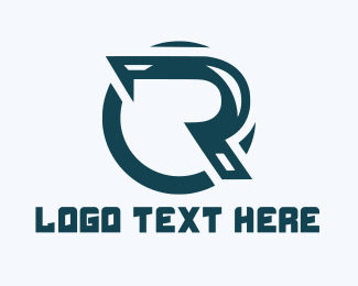 """Industrial Blue Letter R"" by Gandesign"