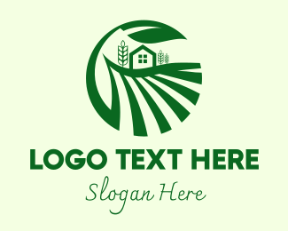 Provincial - Countryside Wheat Farm logo design