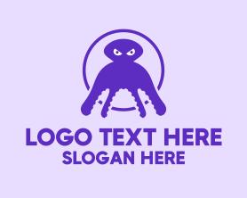 Squid - Purple Squid logo design