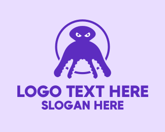 Squid - Purple Squid logo design