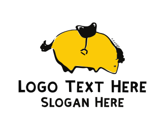 Pony - Yellow Pony logo design