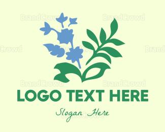 Organic Food - Blue Garden logo design