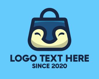 Penguin - Happy Penguin Bag logo design