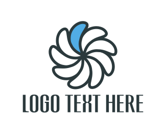 Propeller - Blue Petal logo design