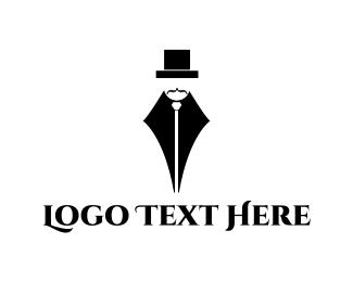 Press - Gentleman Pen logo design