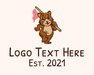 Wild Bear - Happy Bear Flag  logo design