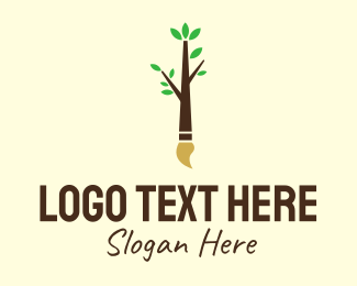 Mangrove - Eco Branch Art Paintbrush logo design
