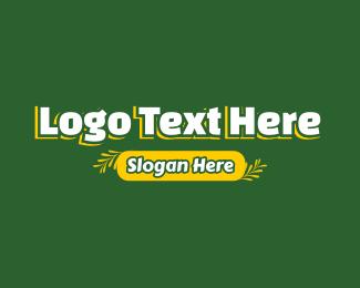 Lawn - Leaves Text logo design