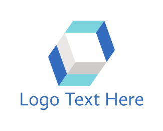 """Blue Hexagon"" by LogoBrainstorm"