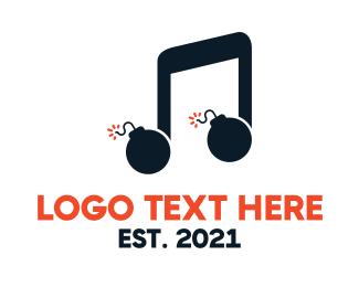 Tagline - Music Bomb logo design