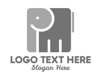Elephant Sanctuary - Cube Elephant logo design