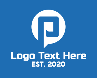 """""""White Messaging Letter P"""" by town"""
