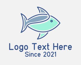 Aquatic - Shark Fish Aquatic logo design