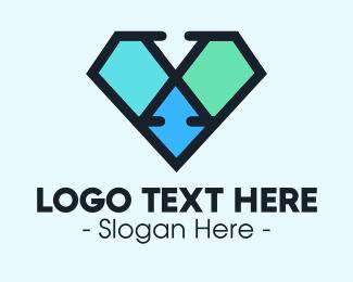 Letter X - Diamond Letter X logo design