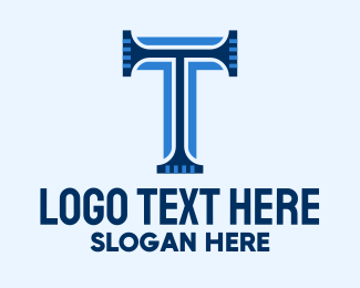 """""""Blue Classic Letter T """" by FishDesigns61025"""
