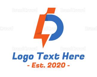 Appliances - Futuristic Letter D Monogram logo design