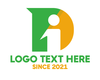 Webpage - Bold DI Monogram logo design