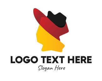 Geography - Germany Flag Map  logo design