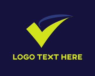 Management - Green Check Mark logo design