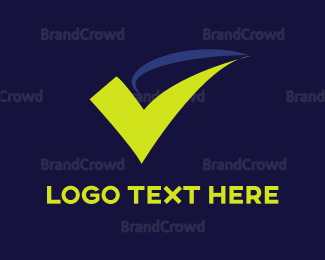 Checkbox - Green Check Mark logo design