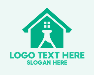 Science - Science Laboratory House logo design