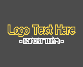 """Esport Yellow Team Text"" by BrandCrowd"